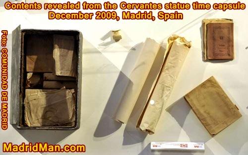 cervantes-statue-time-capsule-contents-2009.jpg