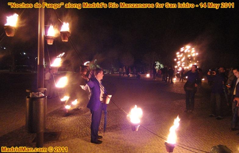 Noches de Fuego Rio Manzanares Madrid San Isidro 2011 flames