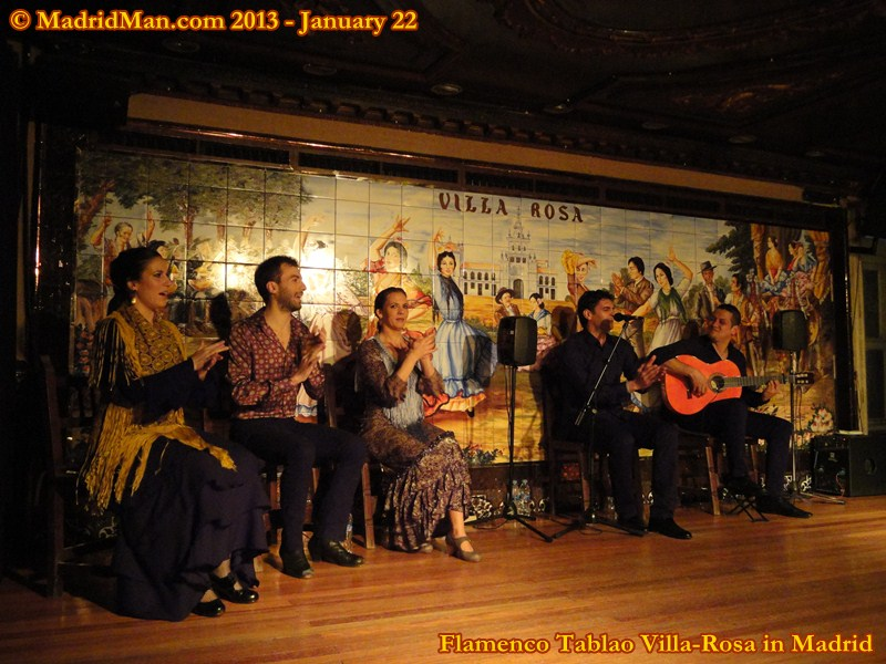 Madrid Flamenco Tablao Villa-Rosa Cast Stage 2013