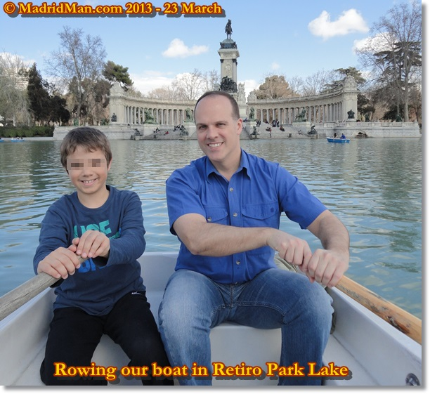 2013 Madrid Parque Retiro Lago Rowboat Rental