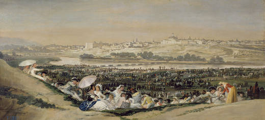 La Pradera de San Isidro painting Francisco de Goya 1788