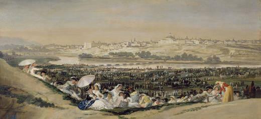 La Pradera de San Isidro painting Francisco de Goya 1788