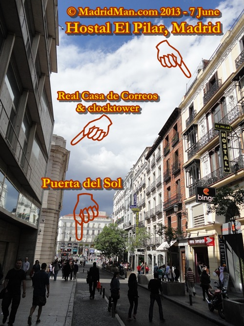 Review hostal el pilar near puerta del sol madrid for Puerta del sol 9 madrid